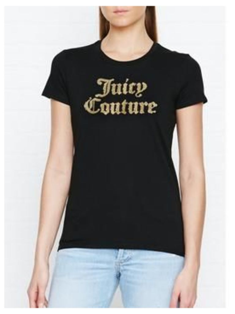 Juicy Couture Track Paisley Flourish Classic T-Shirt - Black