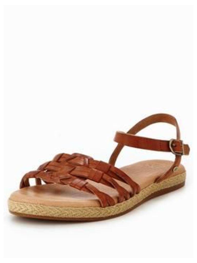 UGG larisa hurrache sandal, Brown, Size 3, Women