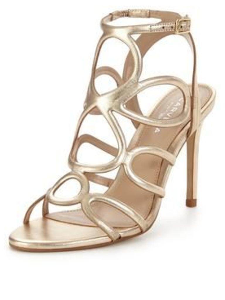 Carvela Gabby Caged Sandal, Gold, Size 6, Women