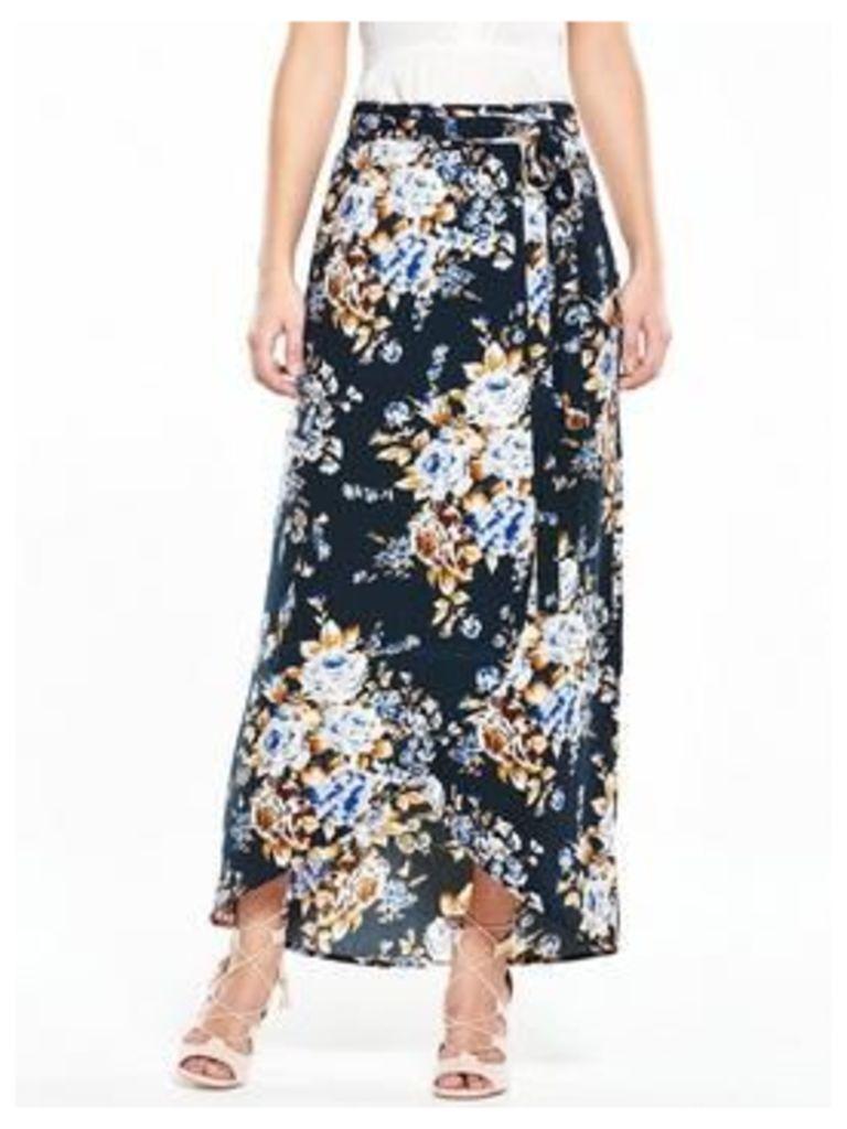 Vero Moda Hollie Wrap Skirt, Navy Blazer, Size 10=S, Women