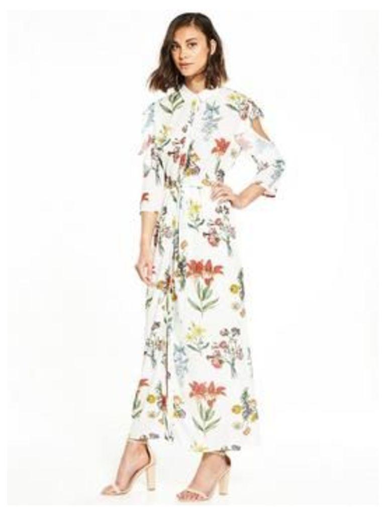 SELECTED FEMME Selected Femme Dixie Maxi Cold Shoulder Dress, Print, Size 38=10, Women