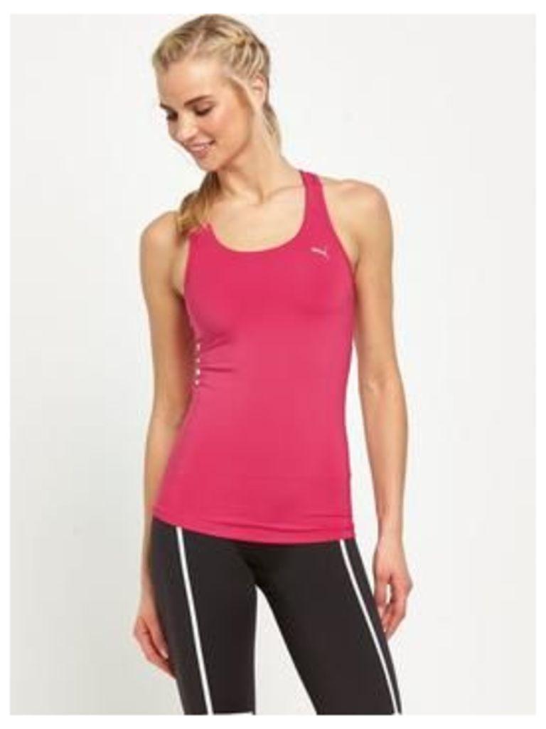 Puma Essential Rib Tank Top, Pink, Size L/14, Women