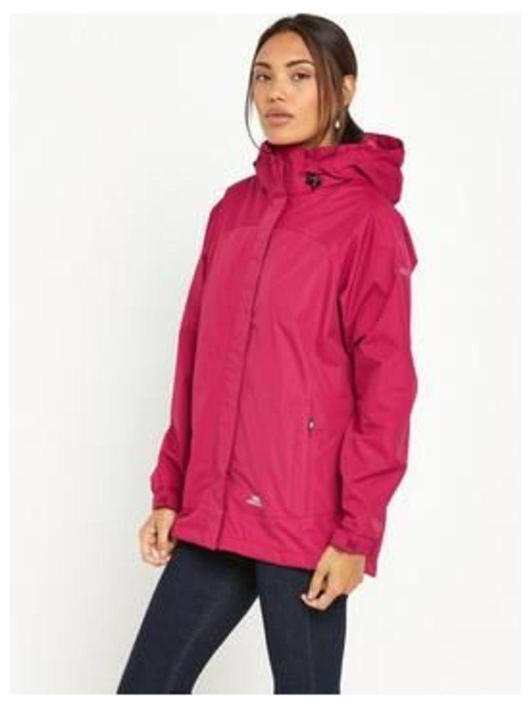 Trespass Nasu II Waterproof Jacket - Pink, Pink, Size Xl, Women