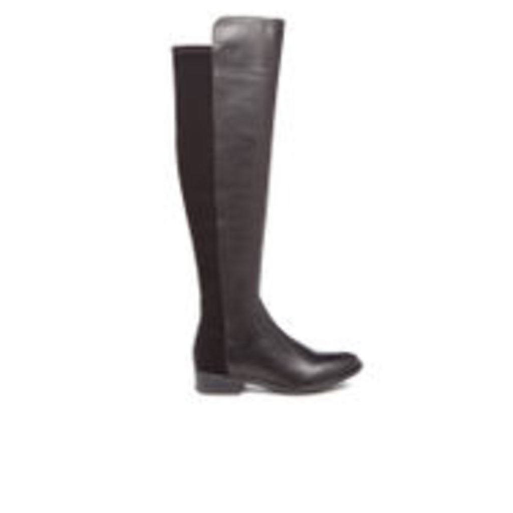 Clarks Women's Caddy Belle Leather Thigh High Boots - Black