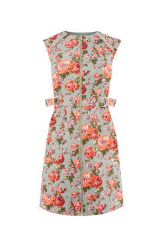 ROSE TEXTURE SHIFT DRESS