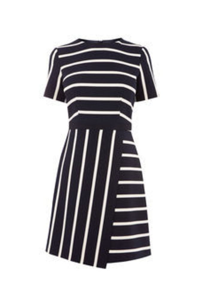 CUTABOUT STRIPE SHIFT DRESS