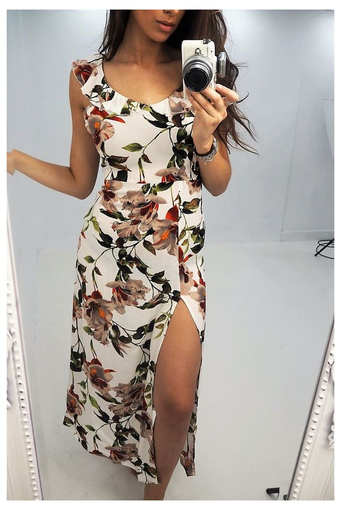 Dinna floral printed split maxi dress