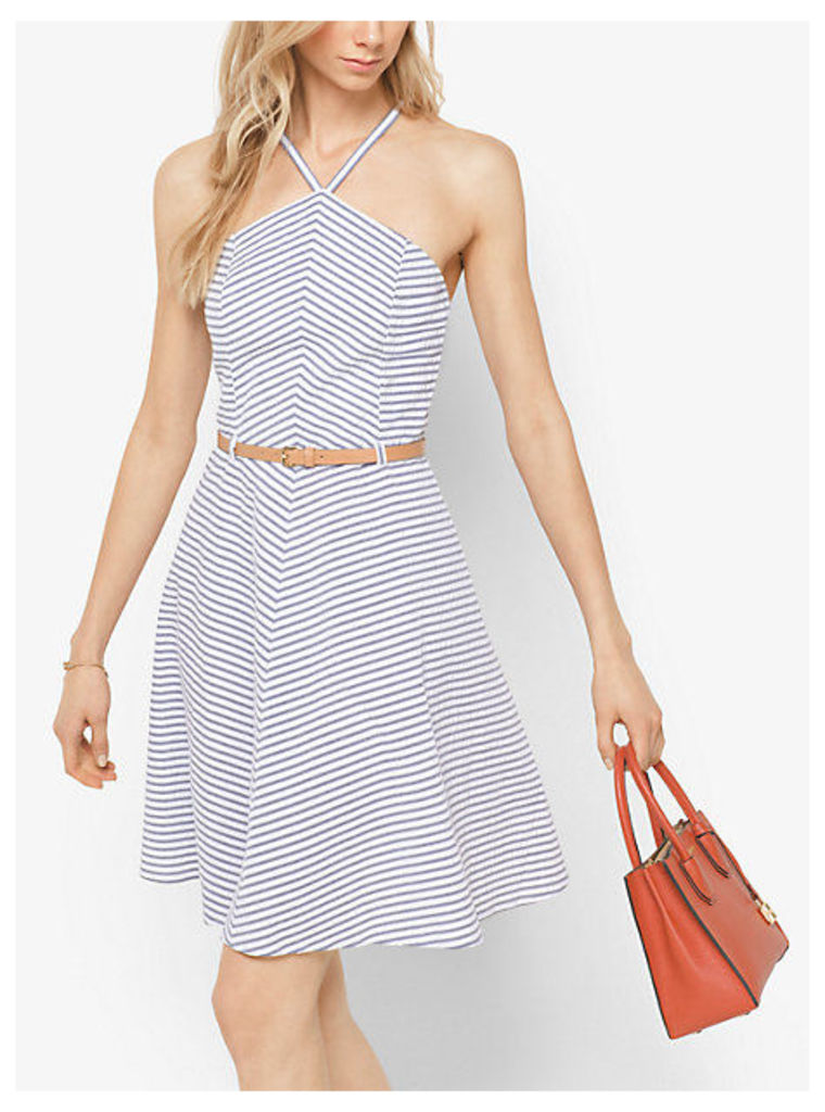 Striped Cotton A-Line Dress