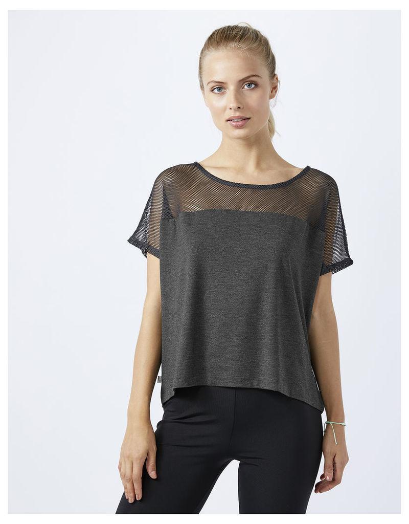 Cropped Mesh T Shirt