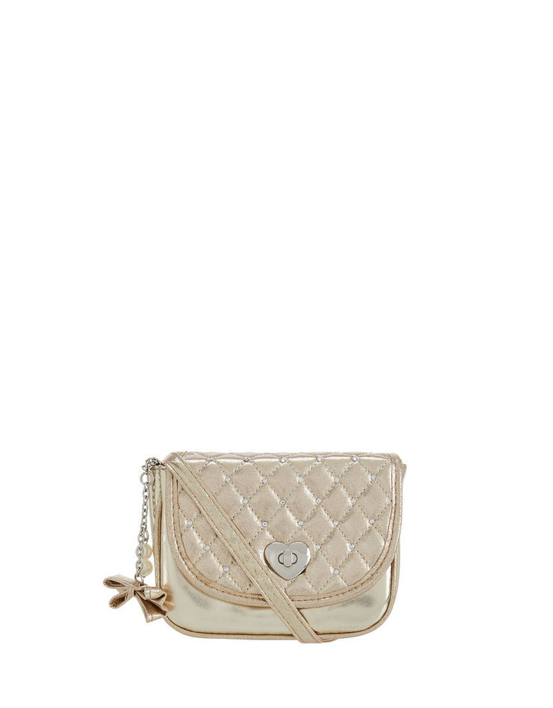 Quilted Stud Across Body Bag