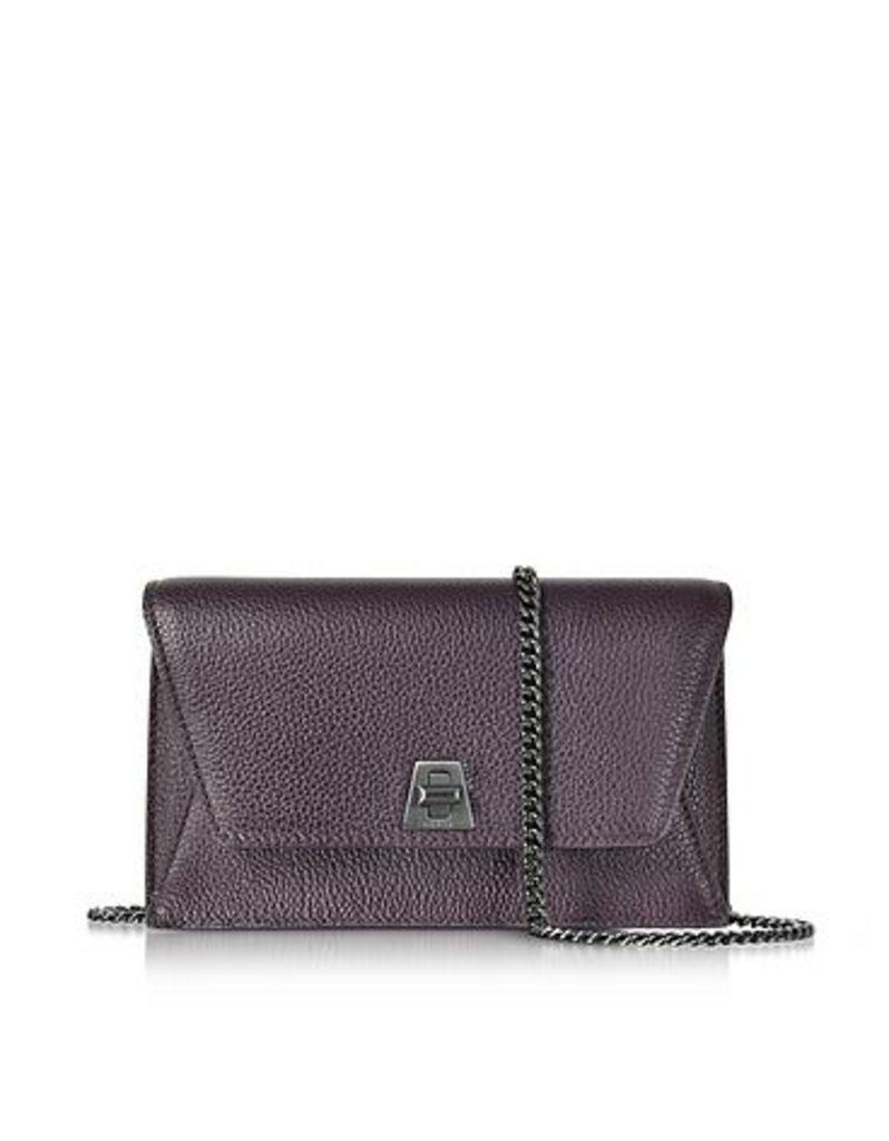 Akris - Blackberry Cervocalf Anouk Mini Envelope Bag