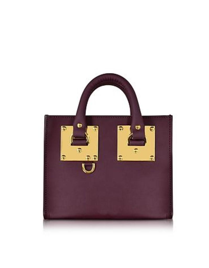Sophie Hulme - Aubergine Saddle Leather Albion Box Tote Bag
