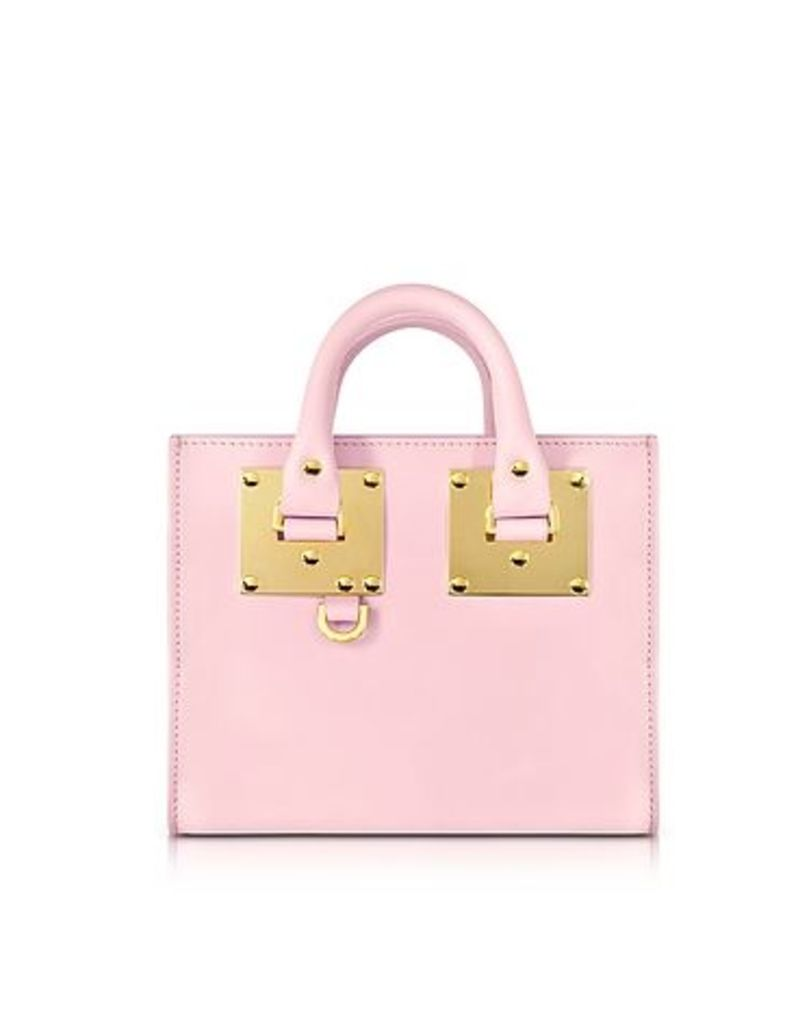 Sophie Hulme - Pastel Pink Saddle Leather Albion Box Tote Bag