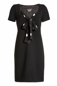 Boutique Moschino Fitted Dress with Printed Tie
