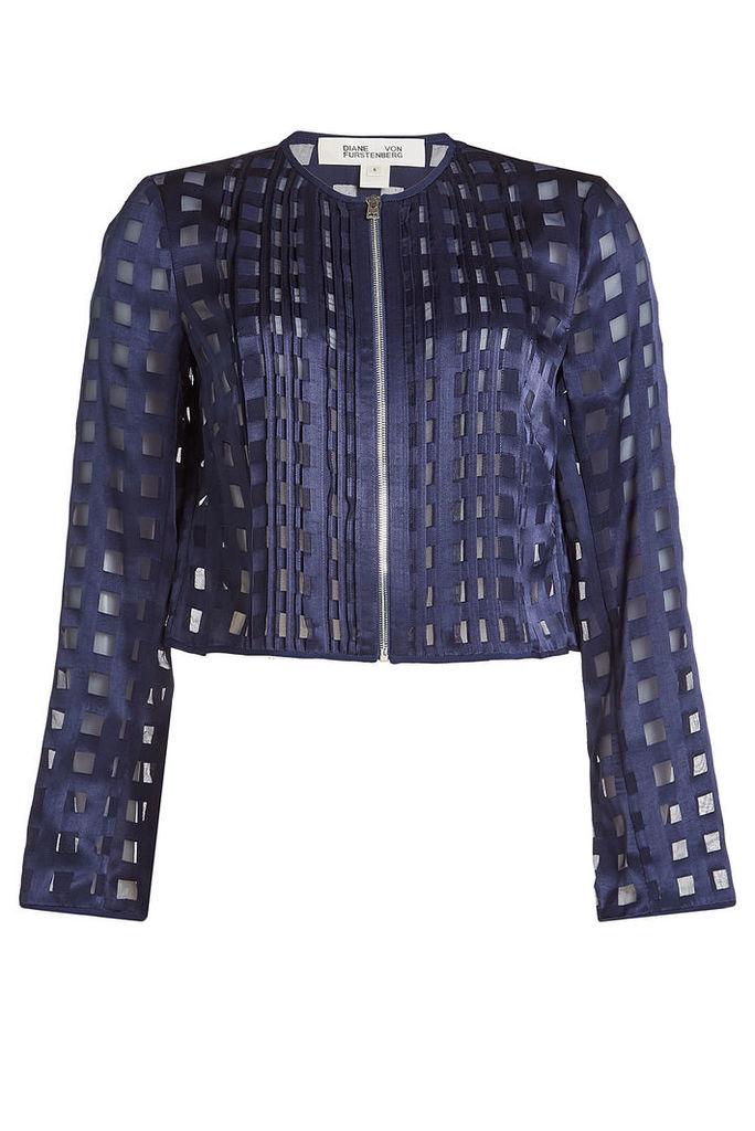 Diane von Furstenberg Jacket with Sheer Inserts