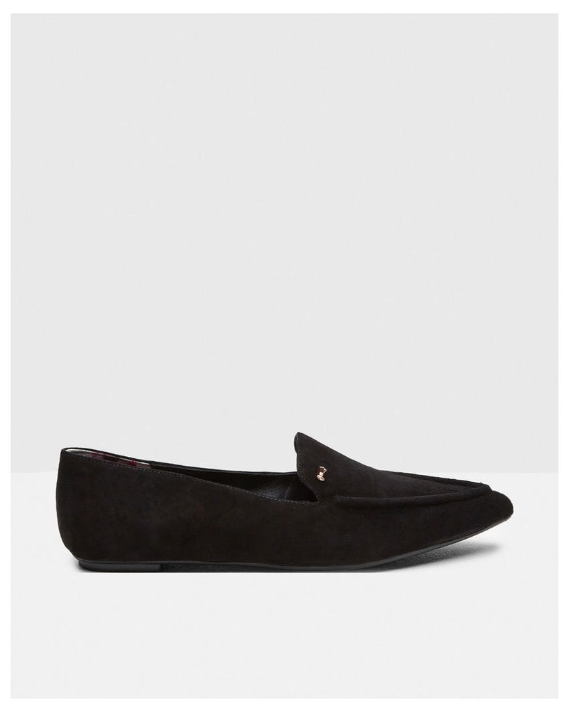 Ted Baker Pointed suede pumps Black