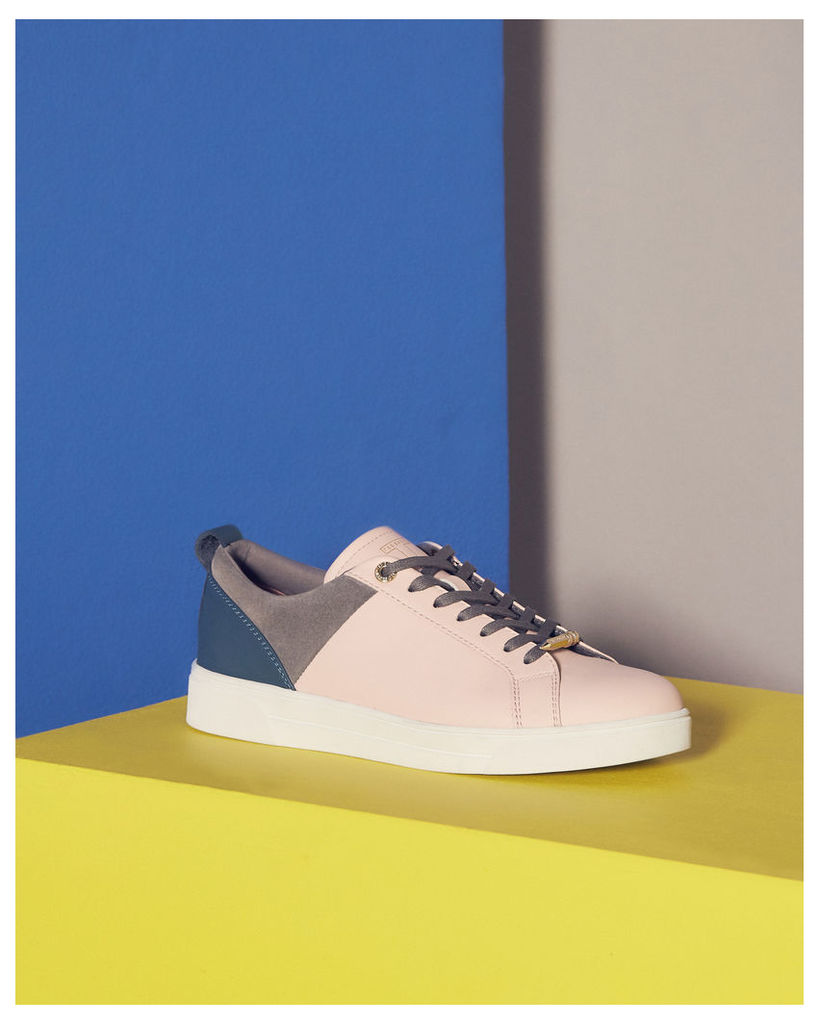 Ted Baker Lace-up colour block trainers Pale Pink
