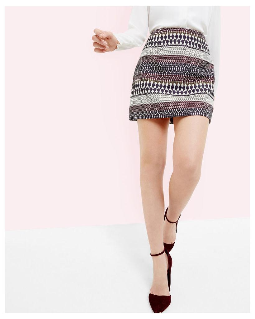 Ted Baker Deco sparkle jacquard mini skirt Blue