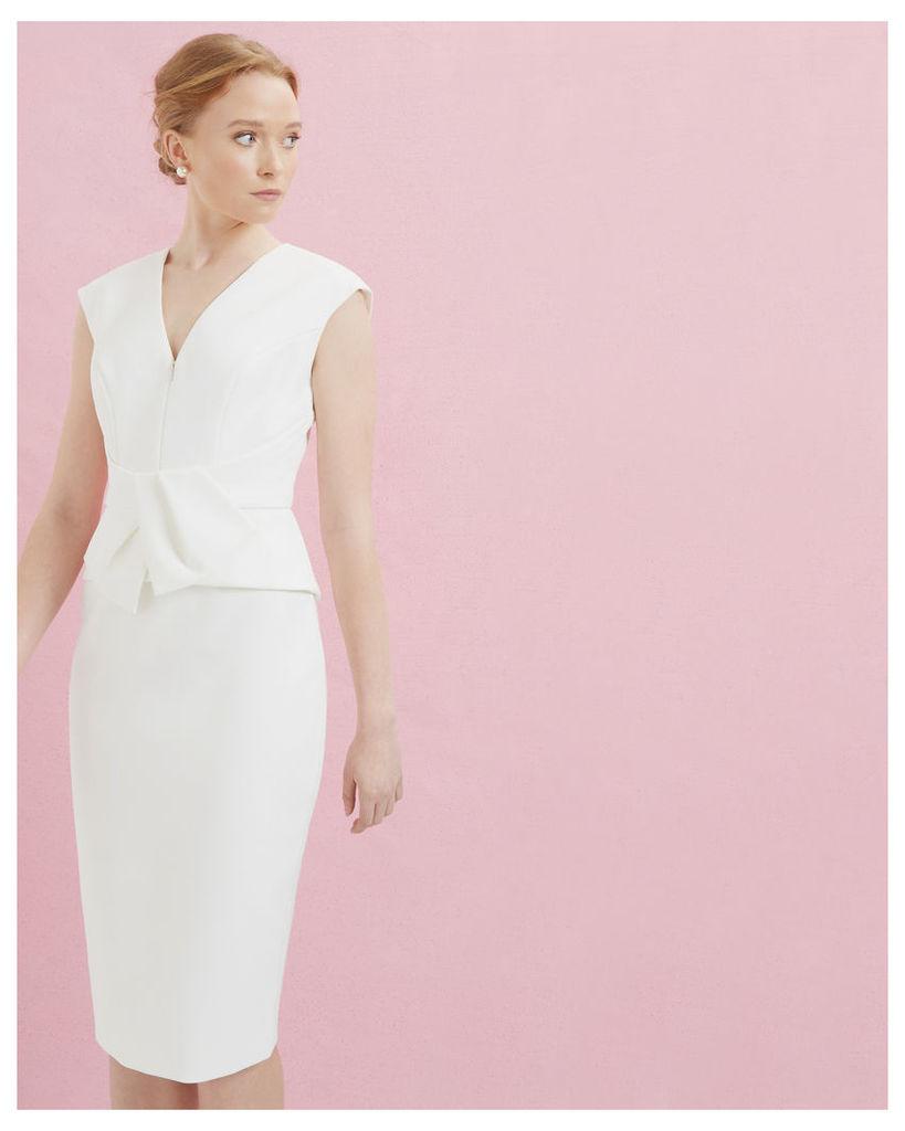 Ted Baker Peplum dress Ivory