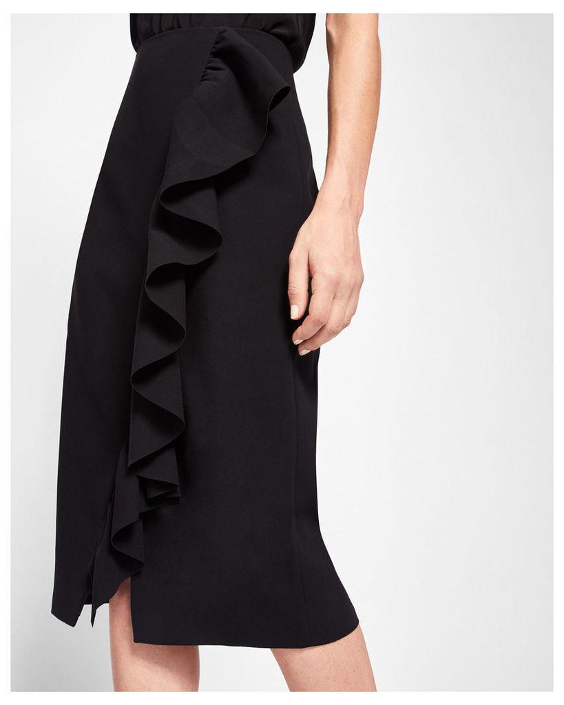 Ted Baker Ruffle detail pencil skirt Black