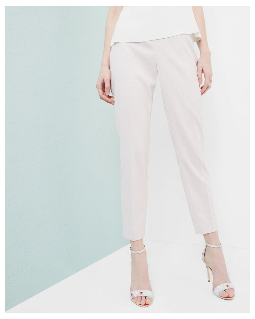 Ted Baker Textured tapered trousers Lilac