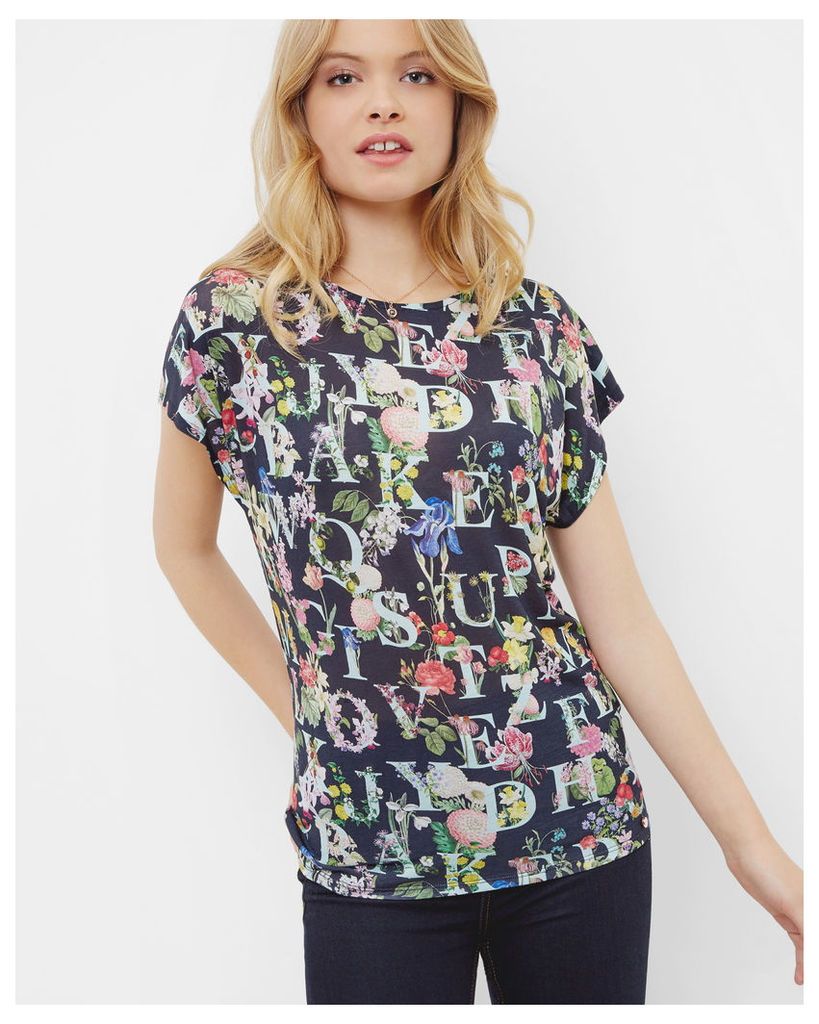 Ted Baker A-Z Floral T-shirt Navy