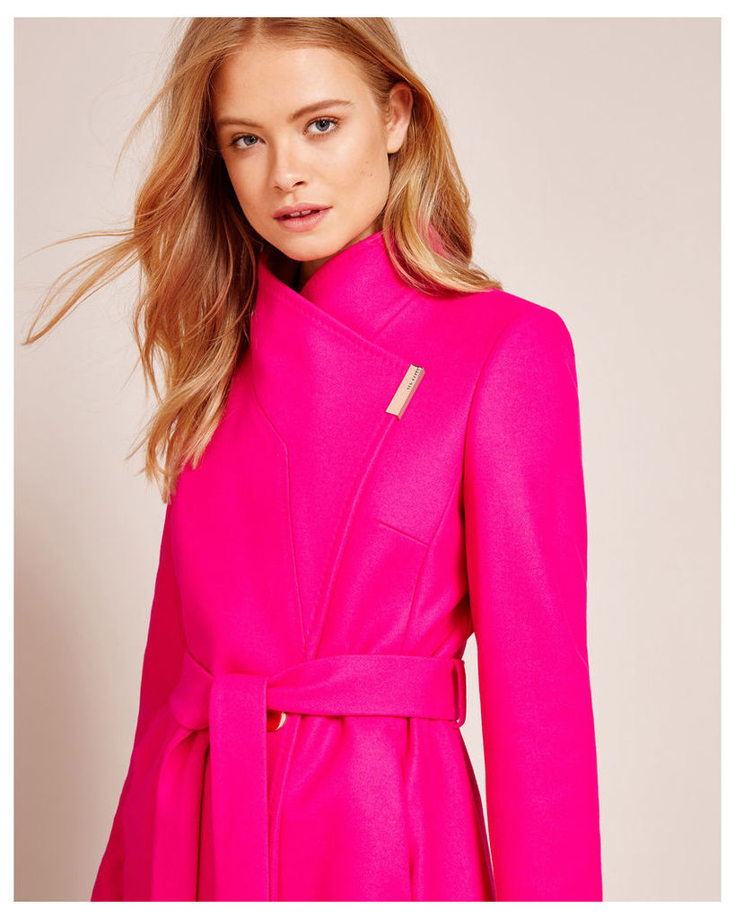 Ted Baker Cashmere-blend wrap front coat Fuchsia