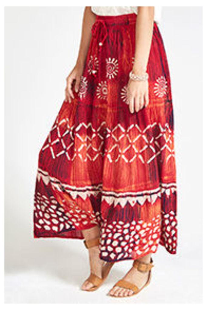 Multi-coloured Batik Maxi Skirt