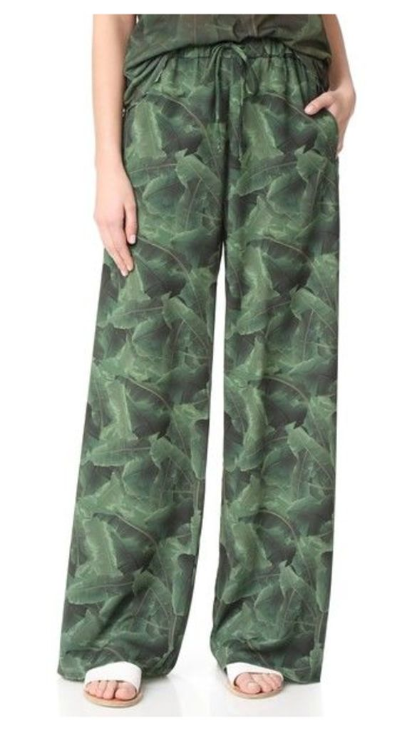 Baja East x Minions Palm Print Pants
