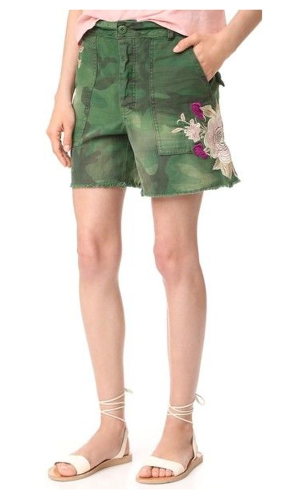 Free People Embroidered Scout Shorts