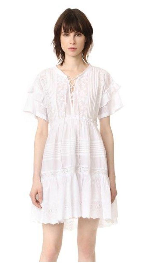 The Kooples Lace Up Ruffle Dress
