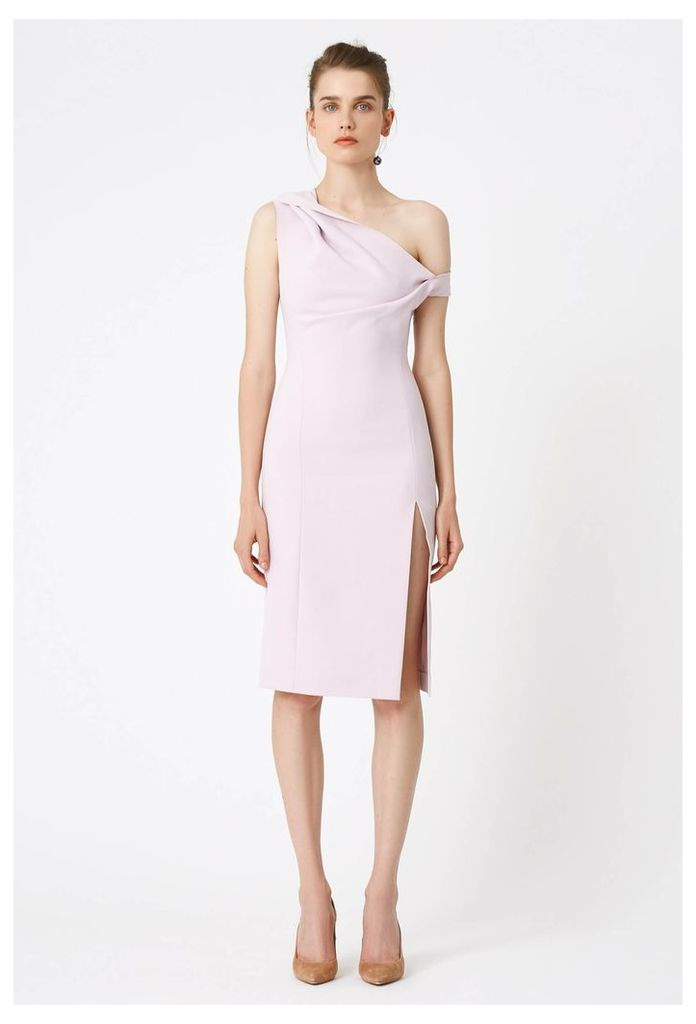 Didion Structured Knee Length Dress - Pale Lilac