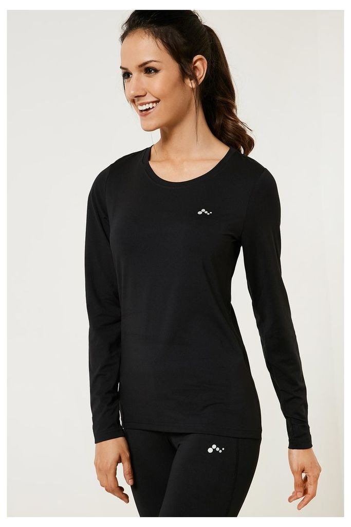 Only Play Claire Long Sleeved Training Top - Black