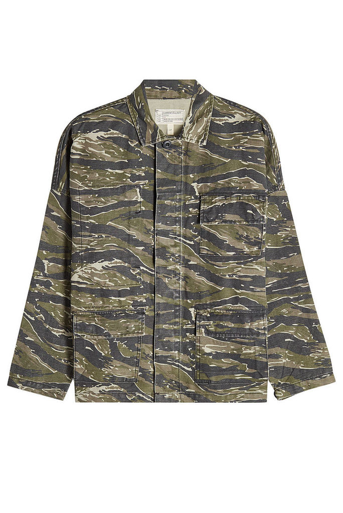 Current/Elliott Printed Jacket in Cotton and Linen
