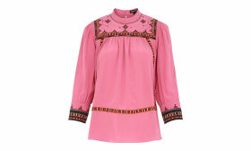 Avery Embroidery Silk Top