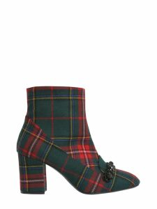 N.21 Check Printed Ankle Boots