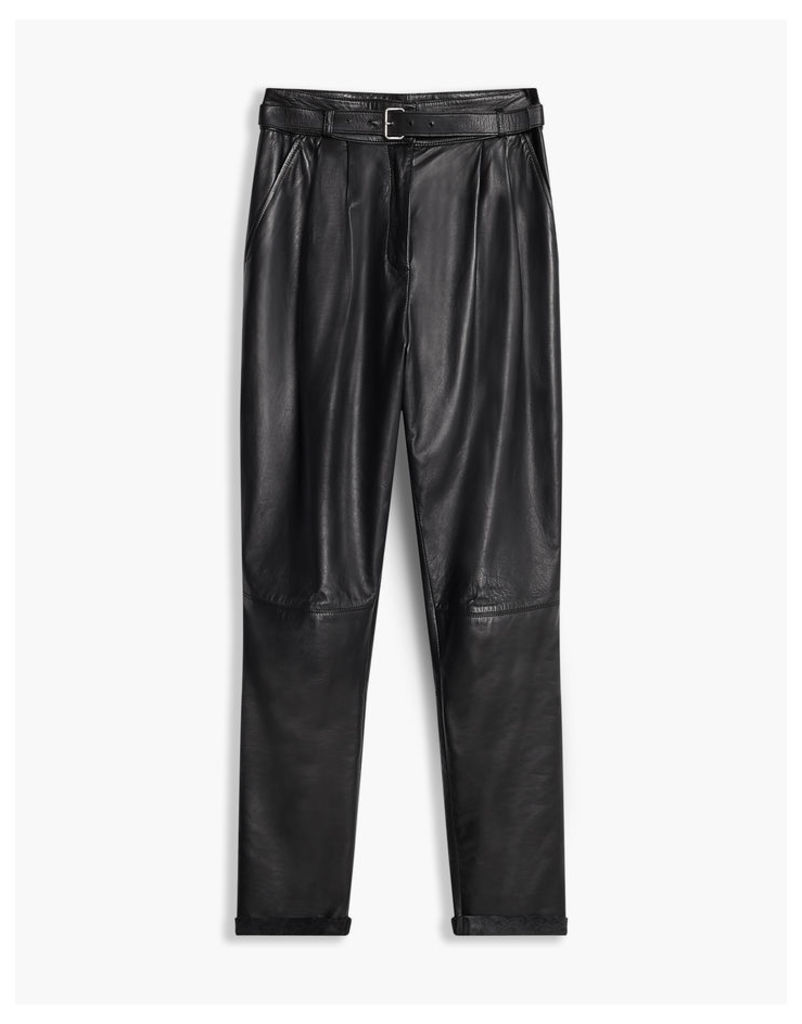 Belstaff Emely 2.0 Leather Trousers Black