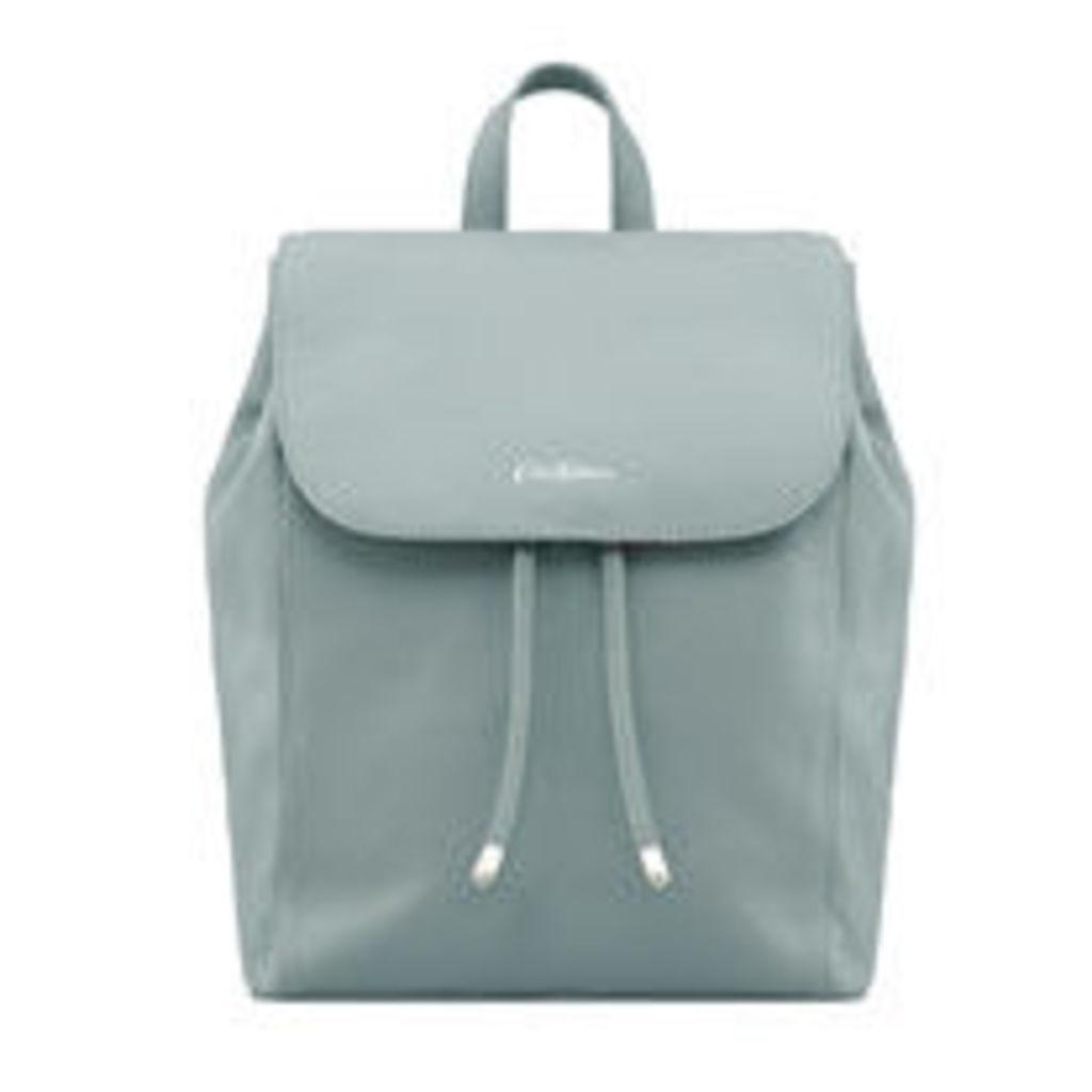 Seafoam Blue Saxham Leather Backpack