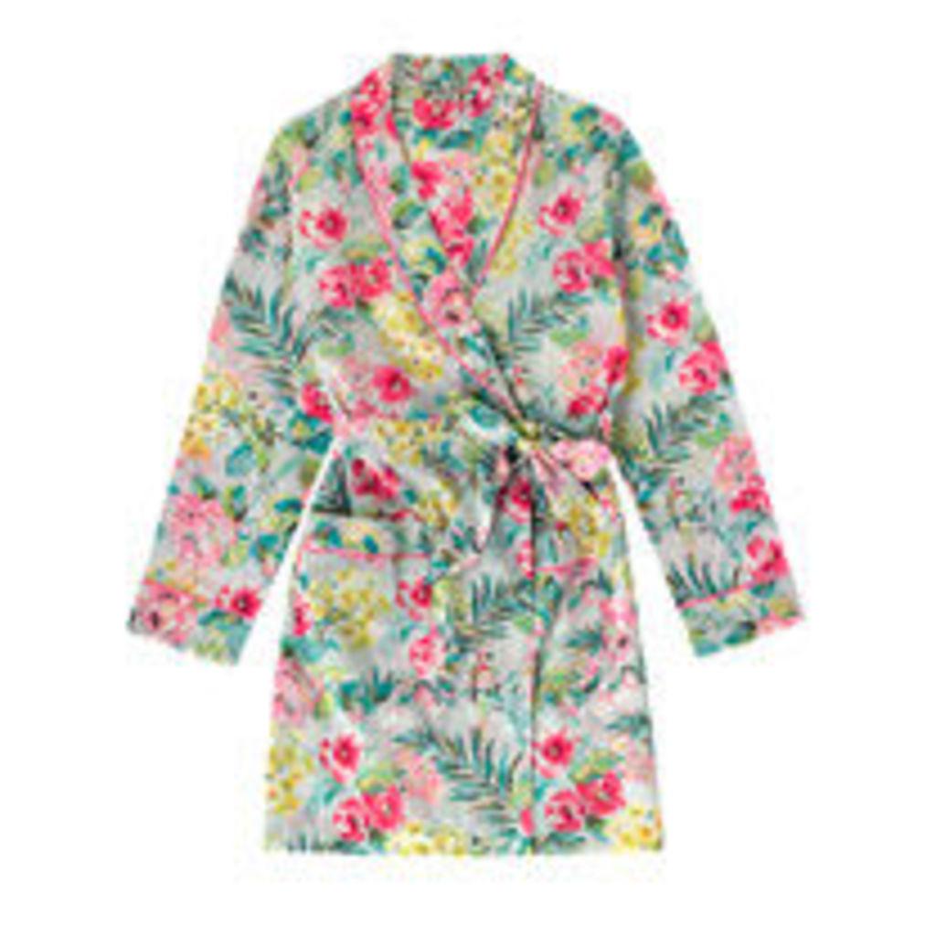 Tropical Garden Short Dressing Gown
