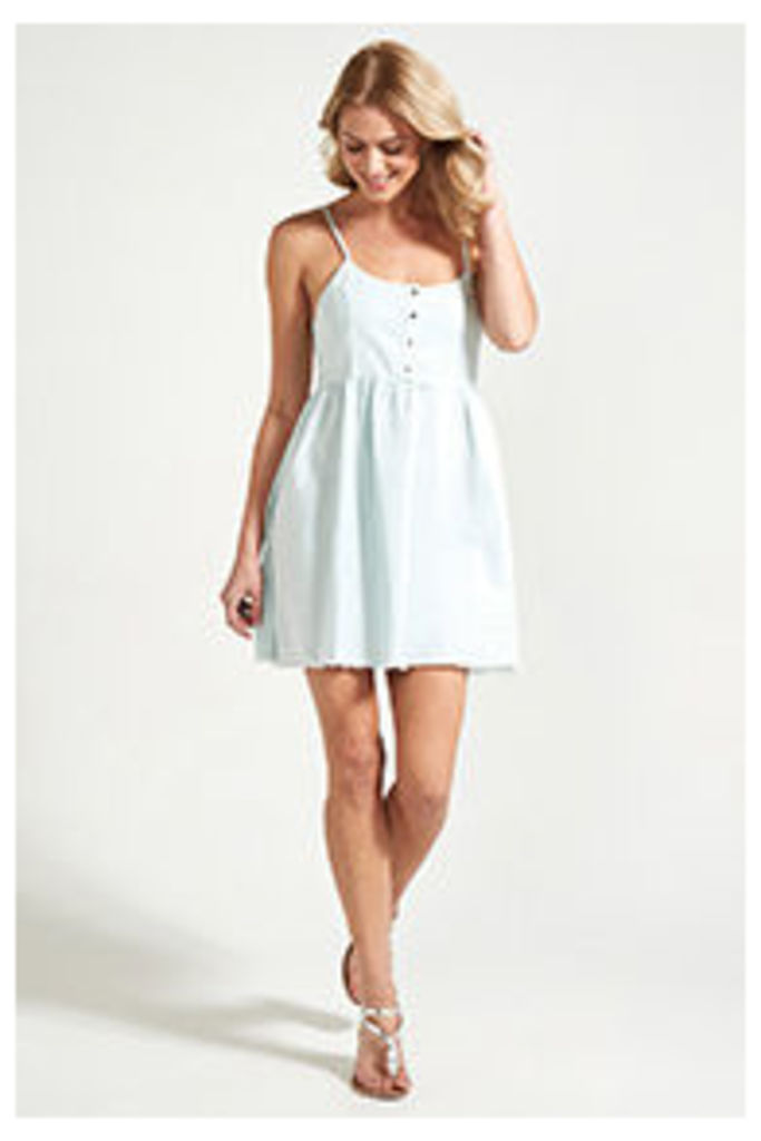 Blue Frayed Edge Cami Dress
