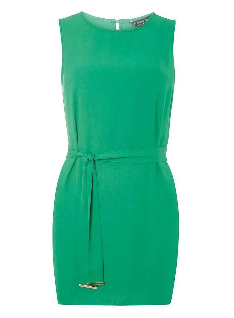 Womens Green Longline Tunic- Green