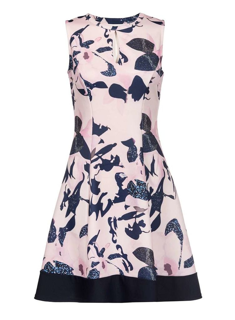 Womens *Quiz Multi Coloured Floral Skater Dress- Multi