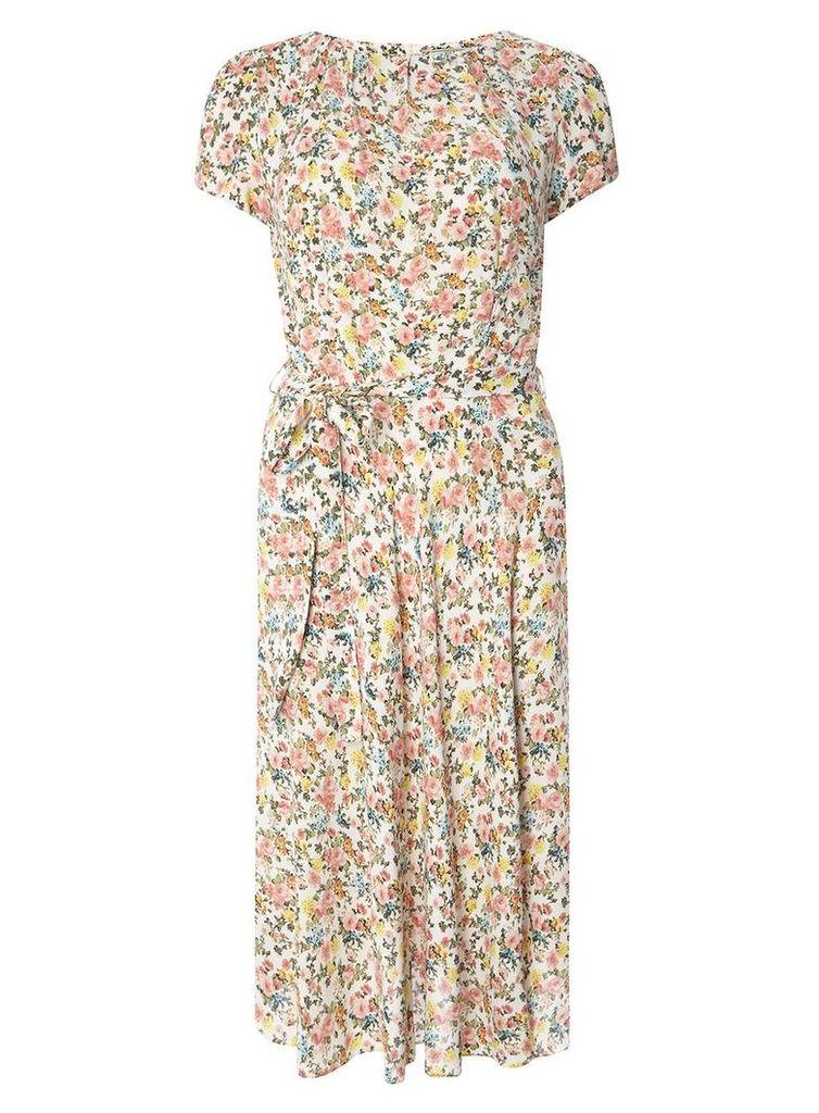 Womens **Billie and Blossom Tall Ivory Ditsy Dress- Fl Multi