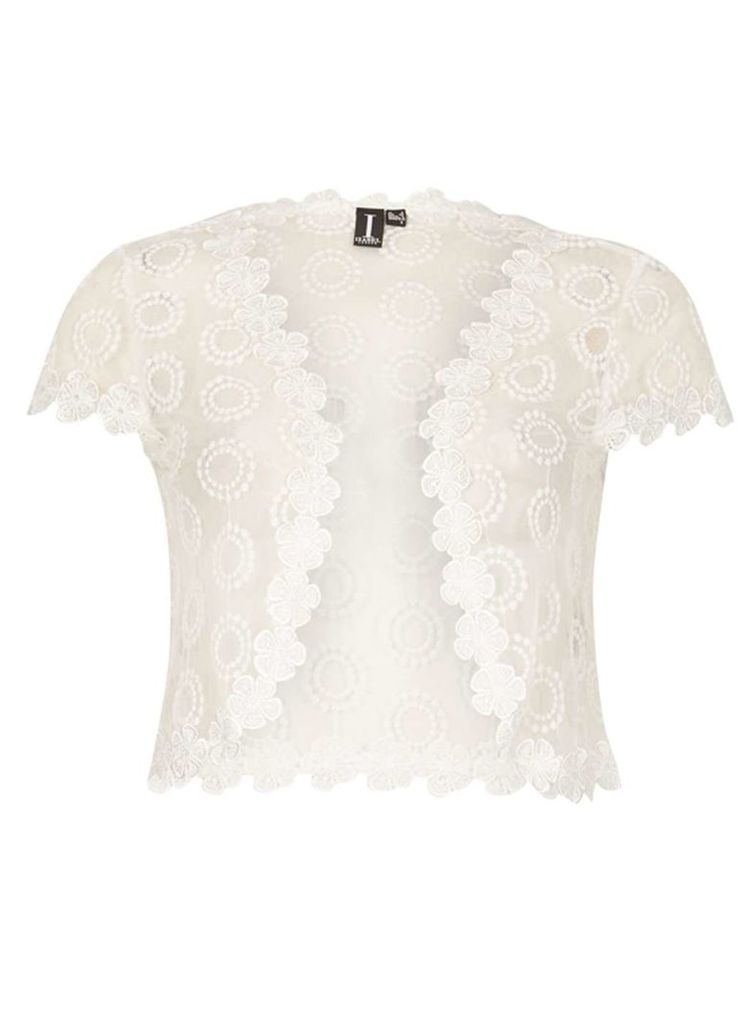 Womens *Izabel London White Lace Twirl Cardigan- White