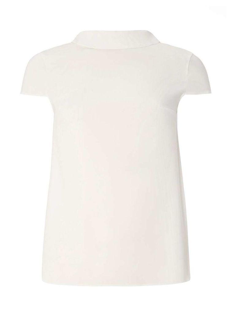 Womens Ivory Bow Back T-Shirt- White