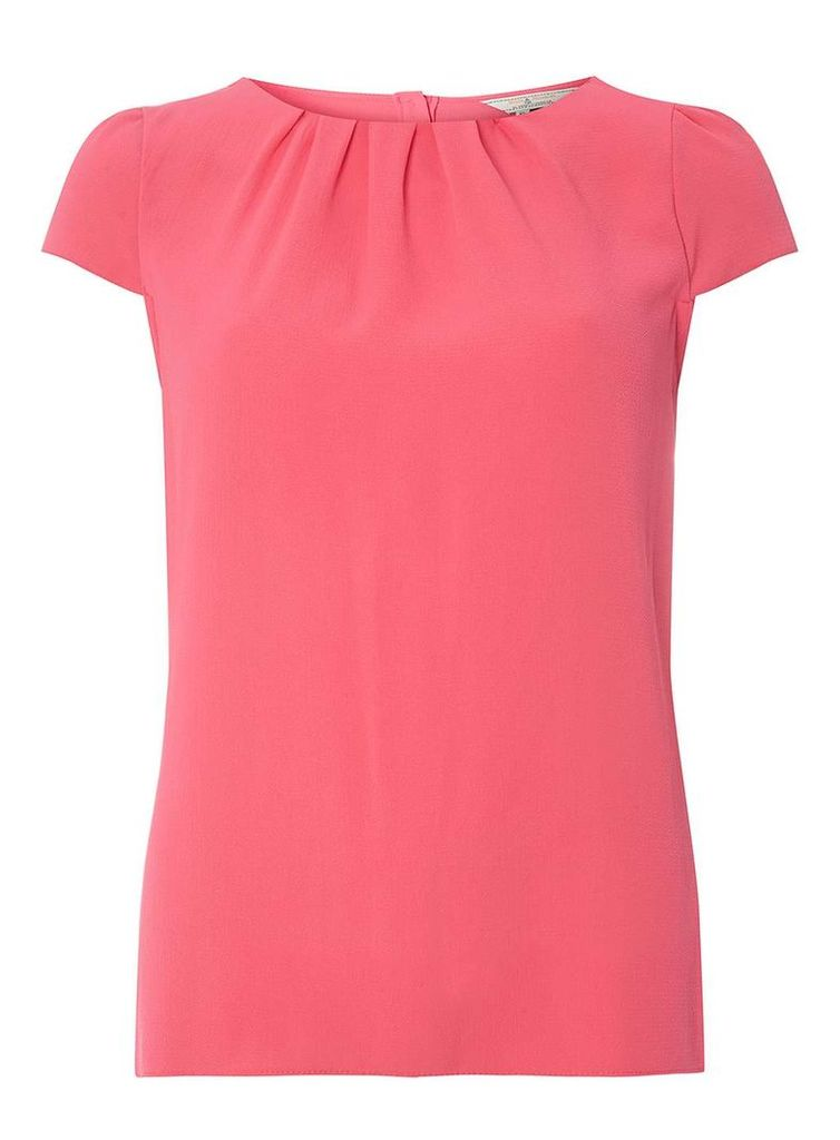 Womens **Billie & Blossom Tall Pink Crepe Shell Top- Pink