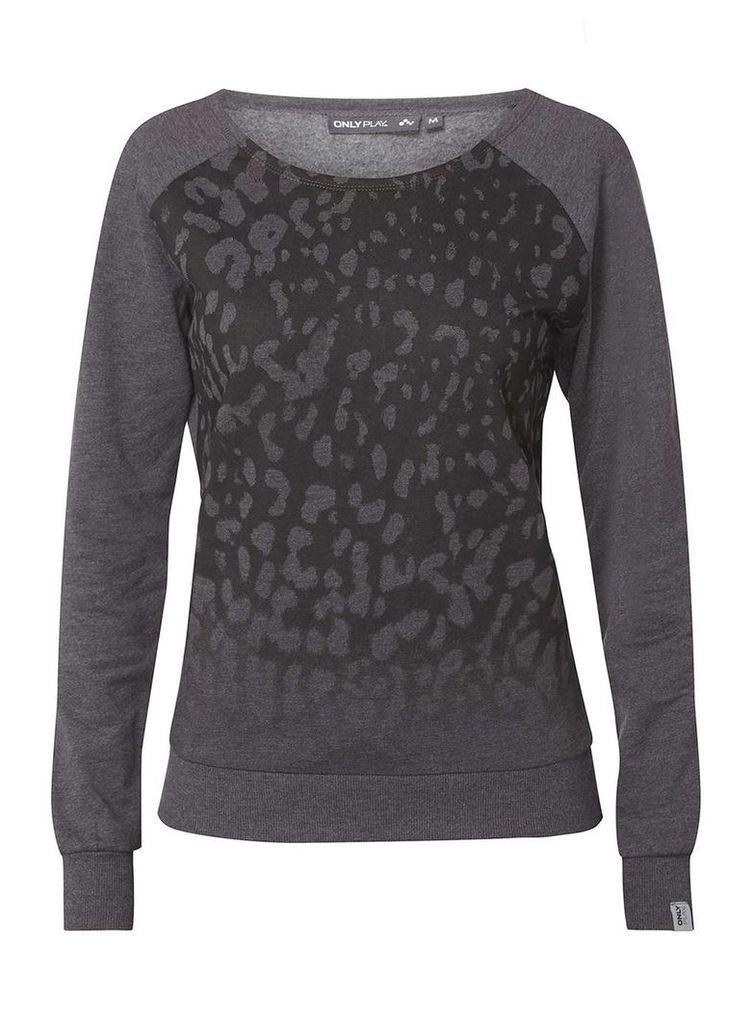 Womens **Only Play Dark Grey 'Tilly' Sweat Top- Grey