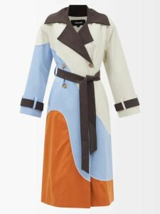 Toga - Flared-sleeves Velvet Top - Womens - Burgundy