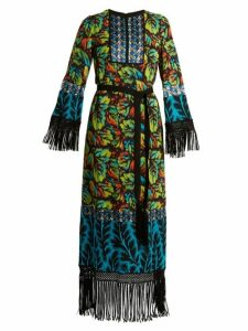 Andrew Gn - Multi-print Tie-waist Silk-blend Georgette Gown - Womens - Multi