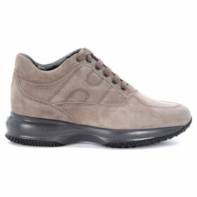 Hogan  Interactive Sneaker in dove grey suede  women's Shoes (Trainers) in Grey